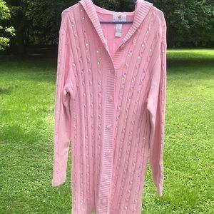 Light pink swing sweater/jacket/sway cape